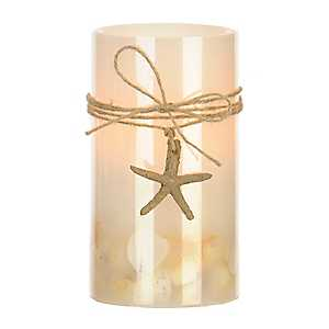 Coastal LED Pillar Candle, 6 in.