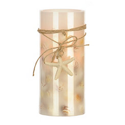 Coastal LED Pillar Candle, 8 in.