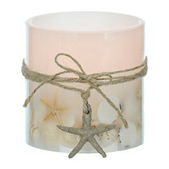 Coastal LED Pillar Candle, 4 in.
