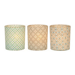 Pretty Patterns Votive Candle Holders