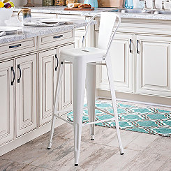 Ivory Industrial Barstool