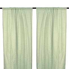 Cleo Aqua Dot Curtain Panel Set, 108 in.