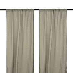 Cleo Gray Dot Curtain Panel Set, 96 in.