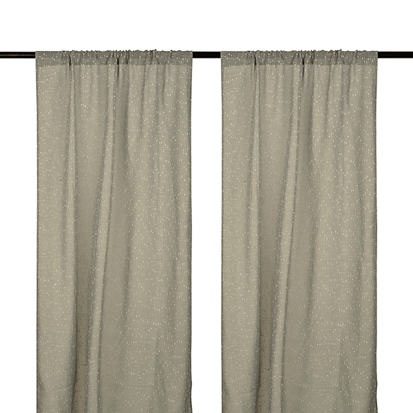 cleo gray dot curtain panel set 96 in