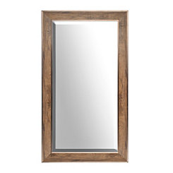 Oak with Bronze Framed Mirror