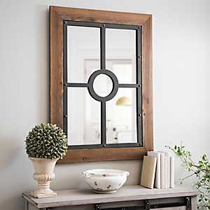 Chalet Faux Rustic Framed Mirror