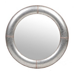 Faux Galvanized Metal Framed Mirror