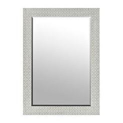Silver Carved Fleur-de-Lis Mirror