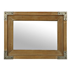 Franklin Natural Wood and Galvanized Metal Mirror