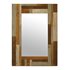 Dawson Patchwork Wood Framed Mirror