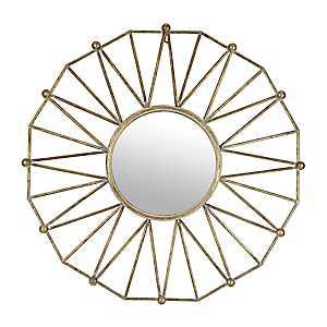Geometric Star Burst Framed Mirror