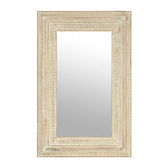 Ivory Shores Framed Mirror