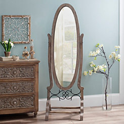 Oval Elaina Cheval Floor Mirror