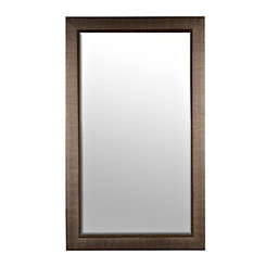 Embossed Graphite Framed Mirror