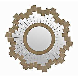 Ollie Sunburst Wood Mirror