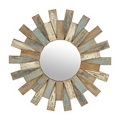 Cora Planks Wooden Mirror