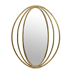 Gold Metal Eclipse Framed Wall Mirror