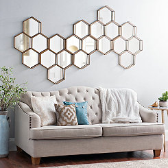 Katy Metal Hexagons Mirror