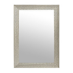 Hexagon Silver Framed Mirror