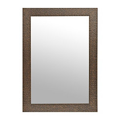 Aged Hammered Copper Framed Wall Mirror