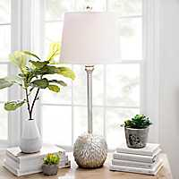 Silver Feathers Buffet Lamp