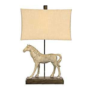 Dappled Gray Horse Table Lamp