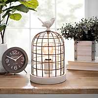 Rustic Bird Cage Edison Lampp