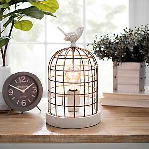 Rustic Bird Cage Edison Lamp
