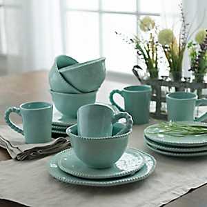 Bettina Dot Jade 16-pc. Dinnerware Set