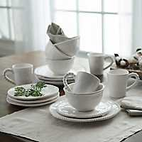 Bettina Dot White 16-pc. Dinnerware Set