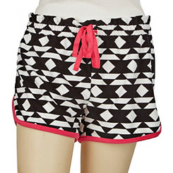 Terry Plush Patterned Shorts