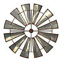 Antique Metal Windmill Plaque