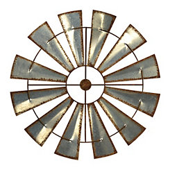 Antique Metal Windmill Plaque