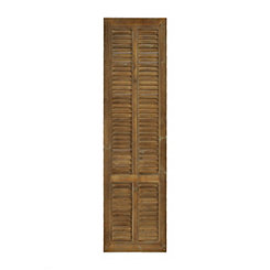 Weathered Shutter Wooden Wall Plaque