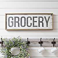 Grocery Sign Framed Wall Plaque