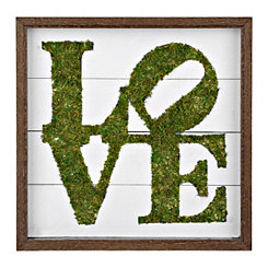 Love in Green Moss Framed Plaque