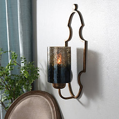Indigo Waters Metal Sconce