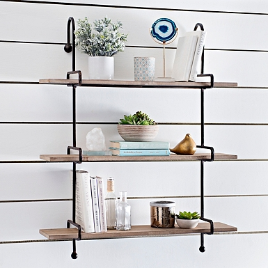 Shelves Best Sellers. Wooden Slatpipe Shelf