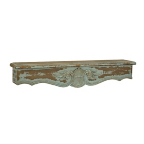 Distressed Turquoise Victorian Shelf