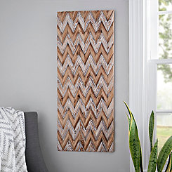 Carved Chevron Wooden Plaque