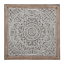 Galvanized Square Medallion Metal Wall Plaque