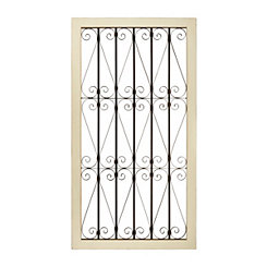 Kathleen Scrolled Metal Wall Plaque
