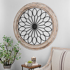 Rustic Circle Medallion Wall Plaque