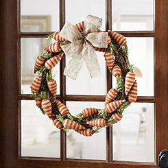 Burlap Carrot Wreath
