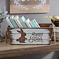 Happy Easter Wooden Crate