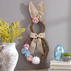 Rattan Bunny Wreath