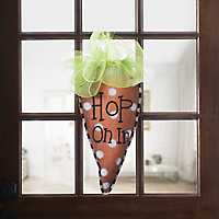 Hop On In Carrot Burlap Wall Hanger