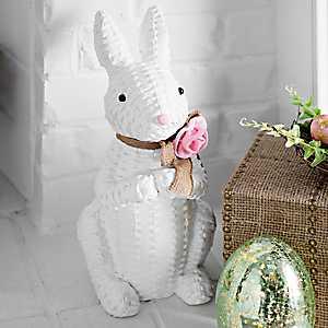 Woven Wicker Bunny Statue