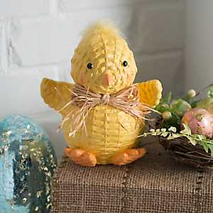 Woven Wicker Chick Statue