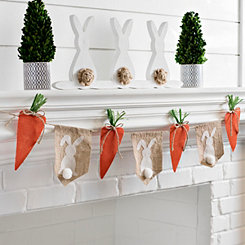 Bunny and Carrot Pennant Banner